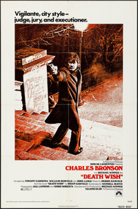 """Death Wish (Paramount, 1974). Folded, Very Fine. One Sheet (27"""" X 41""""). Action"""