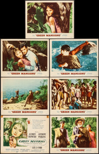 """Green Mansions (MGM, 1959). Overall: Very Fine-. Title Lobby Card (11"""" X 14"""") & Lobby Cards (6) (11&qu..."""