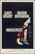 "Movie Posters:Romance, Indiscreet (Warner Brothers, 1958). Folded, Fine/Very Fine. One Sheet (27"" X 41""). Romance.. ..."
