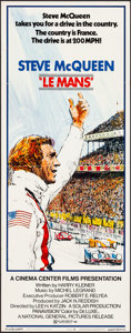 "Movie Posters:Sports, Le Mans (National General, 1971). Folded, Very Fine. Insert (14"" X 36"") Tom Jung Artwork. Sports.. ..."