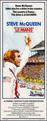 """Le Mans (National General, 1971). Folded, Very Fine. Insert (14"""" X 36"""") Tom Jung Artwork. Sports"""