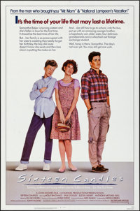 "Sixteen Candles (Universal, 1984). Folded, Very Fine+. One Sheet (27"" X 41""). Comedy"