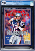 Football Collectibles:Publications, 2002 Tom Brady Sports Illustrated Presents Super Bowl Champions Magazine, CGC 9.8 Highest Graded. ...