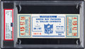 Football Collectibles:Tickets, 1966 NFL Championship Game Packers vs. Cowboys Full Ticket PSA EX-MT 6 - Highest Graded Example! ...