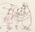 Animation Art:Production Drawing, Breezly Bruin Layout Animation Drawing (Hanna-Barbera, c. 1964)....