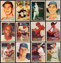 1957 Topps Baseball Near Set (387/407) Plus Duplicates