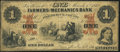 Obsoletes By State:Maryland, Frederick, MD- Farmers and Mechanics Bank of Frederick County $1 Mar. 1, 1862 Very Good-Fine.. ...
