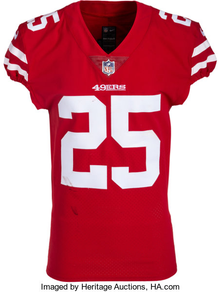 brand new 9cc42 b05b4 2018 Richard Sherman Game Worn, Signed & Unwashed San Francisco 49ers  Jersey - Photo Matched to 10/7 vs. Cardinals......