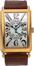 Timepieces:Wristwatch, Franck Muller, Long Island Double Retrograde Seconds, 18K Rose Gold, No. 831, Ref. 1100 DS R, Circa 2000s. ...
