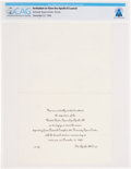 Explorers:Space Exploration, Apollo 8: Apollo 8 Launch Invitation Directly From The Armstrong Family Collection™, CAG Certified....