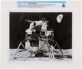Explorers:Space Exploration, Grumman Aircraft Engineering Artist's Concept of Neil Armstrong Taking His First Steps on the Moon Directly From The Armstrong...