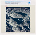 """Explorers:Space Exploration, Apollo 11: Original NASA """"Red Number"""" View of Daedalus Crater From the Command Module Color Photo Directly From The Armstrong ..."""