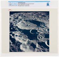 "Apollo 11: Original NASA ""Red Number"" View of Daedalus Crater From the Command Module Color Photo Directly Fro..."