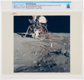 """Explorers:Space Exploration, Apollo 11: Original NASA """"Red Number"""" Buzz Aldrin Deploying Early Apollo Scientific Experiments on the Lunar Surface Color Pho..."""