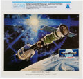 Explorers:Space Exploration, Apollo-Soyuz First Day Cancelled NASA Color Lithograph Directly From The Armstrong Family Collection™, CAG Certified....