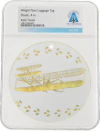 Wright Flyer Souvenir Luggage Tag Directly From The Armstrong Family Collection™, CAG Certified. </