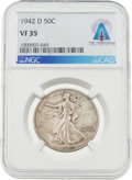 Explorers:Space Exploration, Neil Armstrong Coin Collection: 1942-D 50¢ VF35 NGC Walking Liberty Silver Half Dollar Directly From The Armstrong Fam...