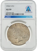 Explorers:Space Exploration, Neil Armstrong Coin Collection: 1926-S $1 AU50 NGC Peace Silver Dollar Directly From The Armstrong Family Collection™, CAG Cer...