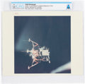 """Explorers:Space Exploration, Apollo 11: Original NASA """"Red Number"""" Lunar Module above Moon Color Photo Directly From The Armstrong Family Collection™, ..."""