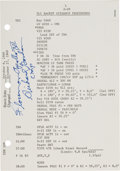 """Explorers:Space Exploration, Apollo 12 Flown CSM-108 """"Launch Operations Checklist"""" Page Directly from the Family Collection of Mission Command Module P..."""