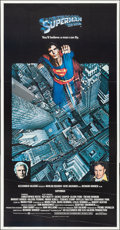"""Movie Posters:Action, Superman the Movie (Warner Brothers, 1978). Folded, Very Fine+. International Three Sheet (41"""" X 80""""). Action.. ..."""