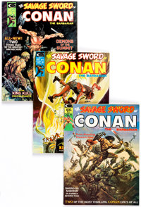 Savage Sword of Conan #1-193 Near-Complete Run Box Lot (Marvel, 1974-92) Condition: Average VF+.... (Total: 3 Box Lots)