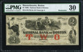 Obsoletes By State:Massachusetts, Boston, MA- National Bank of Boston $2 Aug. 1, 1862 Remainder asG4a PMG Very Fine 30.. ...