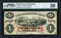 Obsoletes By State:Pennsylvania, Philadelphia, PA- Consolidation Bank $1 Apr. 16, 1862 as G2a as Hoober 305-227 PMG Very Fine 30.. ...