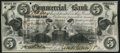 Obsoletes By State:Indiana, Terre Haute, IN- Commercial Exchange Bank $5 Aug. 3, 1858 Choice Crisp Uncirculated, hole cancelled.. ...