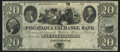 Obsoletes By State:New Hampshire, Portsmouth, NH- Piscataqua Exchange Bank $20 18__ Remainder Choice Crisp Uncirculated.. ...