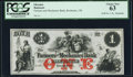Obsoletes By State:New Hampshire, Rochester, NH- Farmers' and Mechanics' Bank $1 18__ Remainder PCGS Choice New 63.. ...