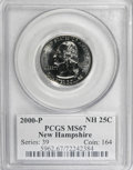 Statehood Quarters: , 2000-P 25C New Hampshire MS67 PCGS. PCGS Population (561/71).Numismedia Wsl. Price for NGC/PCGS coin i...