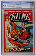 Bronze Age (1970-1979):Horror, Creatures on the Loose #18 (Marvel, 1972) CGC NM 9.4 Off-white towhite pages....