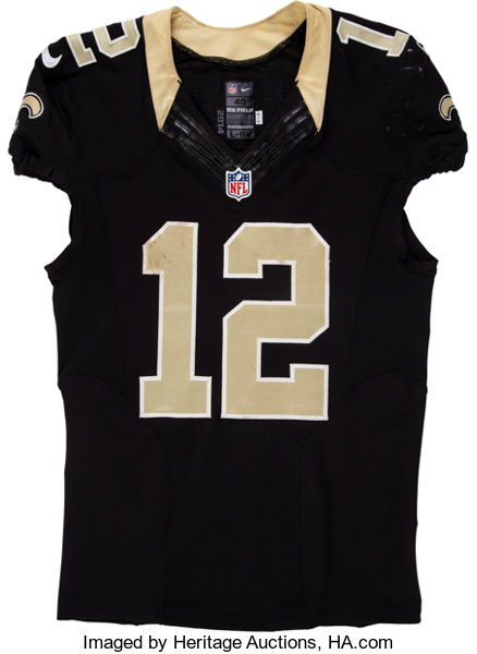sale retailer 079b5 77a5c 2014 Marques Colston Game Worn New Orleans Saints Jersey ...