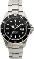 Timepieces:Wristwatch, Rolex, Ref. 16610 Submariner, Stainless Steel, Boxes and Papers, Circa 1990. ...