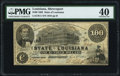 Obsoletes By State:Louisiana, Shreveport, LA- State of Louisiana $100 Mar. 10, 1863 Cr. 11 PMG Extremely Fine 40.. ...