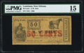 Obsoletes By State:Louisiana, New Orleans, LA- G.W. Holt 50¢ Jan. 1, 1862 PMG Choice Fine 15.. ...