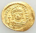 Ancients:Byzantine, Ancients: Maurice Tiberius (AD 582-602). AV solidus (23mm, 4.48 gm,6h). About XF....