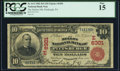 National Bank Notes:Pennsylvania, Pittsburgh, PA - $10 1902 Red Seal Fr. 613 The Mellon NB Ch. # (E)6301 PCGS Fine 15.. ...