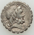 Ancients:Ancient Lots , Ancients: ANCIENT LOTS. Roman Republic. Ca. 83-49 BC. Lot of two(2) AR denarii. About VF-VF, marks.... (Total: 2 coins)
