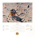 """Explorers:Space Exploration, Alan Bean Signed Limited Edition """"In Flight"""" Print, #AP57/150, also Signed by the Apollo 14 Crew, Originally from the Personal..."""