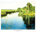 """Explorers:Space Exploration, Michael Collins Signed Limited Edition """"The Everglades, along the Tamiami Trail"""" Color Print, #3/100. ..."""
