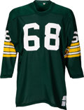 Football Collectibles:Uniforms, 1970-72 Gale Gillingham Game Worn Green Bay Packers Jersey, MEARS A9....