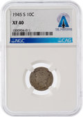 Explorers:Space Exploration, Neil Armstrong Coin Collection: 1945-S 10¢ XF40 NGC Mercury Dime Directly From The Armstrong Family Collection™, CAG Certified...