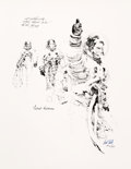 """Explorers:Space Exploration, Apollo 11: Paul Calle Signed Limited Edition, #AP23/25, """"Thumbs Up"""" Print, also Signed by Michael Collins. ..."""