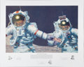 """Explorers:Space Exploration, Alan Bean Signed Limited Edition, #373/550, """"Right Stuff Field Geologists"""" Print, also Signed by Gene Cernan and Harrison Schm..."""