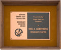 Explorers:Space Exploration, Purdue University: 1975 Purdue Grand Prix Starter Award, Directly From The Armstrong Family Collection™, CAG Certified....