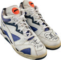 Basketball Collectibles:Others, Circa 1990 Dennis Rodman Game Worn & Signed Detroit Pistons Sneakers. ...