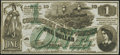Confederate Notes:1862 Issues, CT45 Counterfeit $1 1862 Choice Crisp Uncirculated.. ...