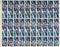 Explorers:Space Exploration, Project Gemini: Pane of Fifty Stamps Signed by Fifteen Astronauts including Neil Armstrong, Buzz Aldrin, Michael Collins, Alan... (Total: 3 Items)